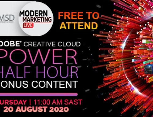 Modern Marketing LIVE Presents Free Adobe Creative Cloud Power Half Hour With New Bonus Content
